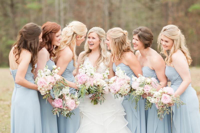 Blue and Blush Winter Wedding